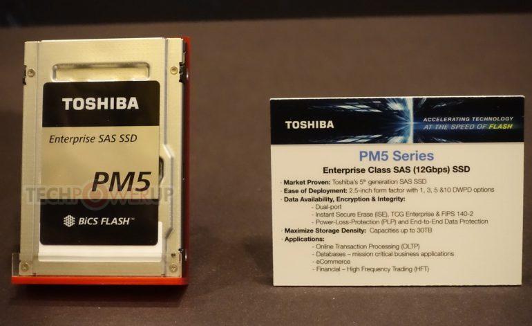 Toshiba анонсировала ряд производительных SSD для различных сфер применения