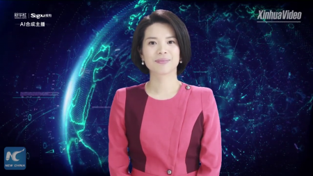 «Синьхуа» представило первую в мире цифровую телеведущую