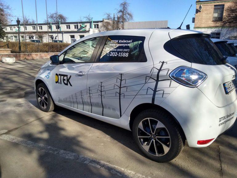 Компания «ДТЭК Киевские электросети» закупила электромобили Renault ZOE и KANGOO Z.E. для обслуживания электросетей столицы