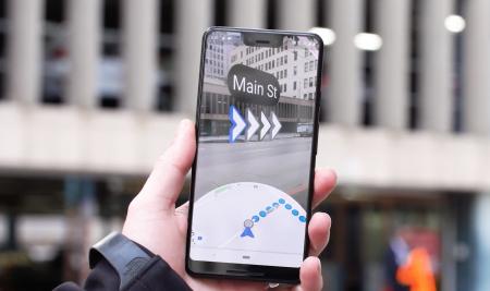 Google тестирует функцию дополненной реальности при навигации в Google Maps