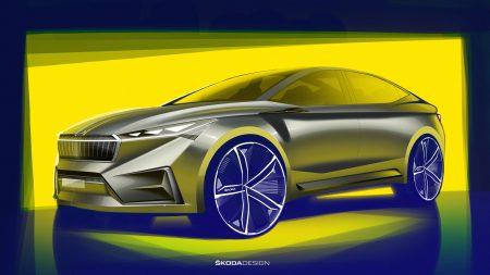 Электрокроссовер Skoda Vision iV на платформе VW MEB представят на Женевском автосалоне 2019 и выпустят на рынок уже в 2020 году [первые изображения]