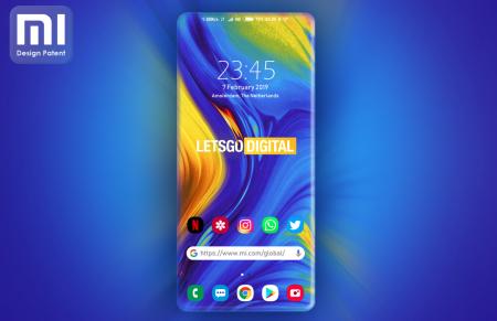 Xiaomi запатентовала дизайн смартфона с дисплеем на всю лицевую панель корпуса