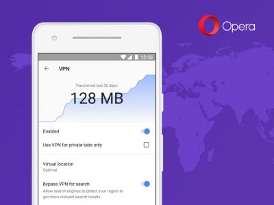 Opera вернула сервис VPN для мобильных пользователей в виде отдельной функции основного браузера (пока только на Android)