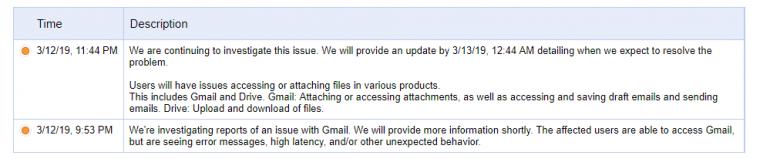 В работе Google Gmail и Drive произошел масштабный сбой, сервисы не работают уже несколько часов