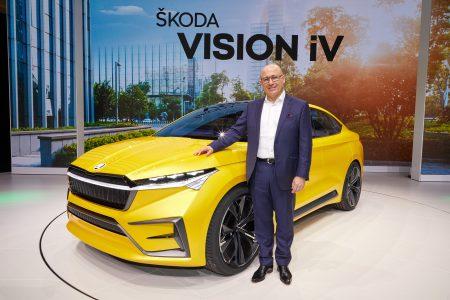 Электрокроссовер Skoda Vision iV на платформе VW MEB получил пару двигателей мощностью 225 кВт, батарею на 83 кВтч и запас хода 500 км по циклу WLTP [Женева 2019]