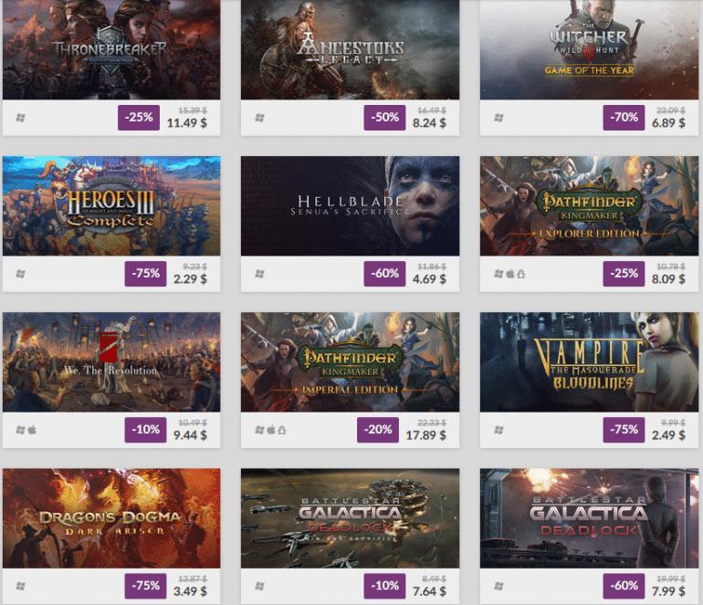 """Сервис GOG.com объявил """"Весеннюю Распродажу"""" со скидками до 90% на 600 игр"""