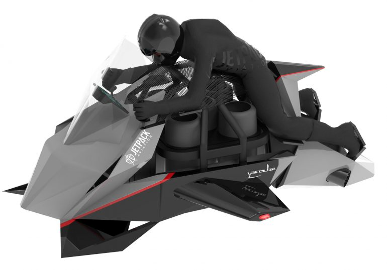 Jetpack Aviation начинают работу над четырьмя моделями летающих мотоциклов
