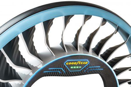 Goodyear представила концепцию шин, способных трансформироваться в воздушные винты