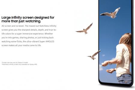 Никаких вырезов и отверстий. Индонезийское отделение Samsung подтвердило, что смартфон Galaxy A90 с поворотной выдвижной камерой получит экран Notchless Infinity