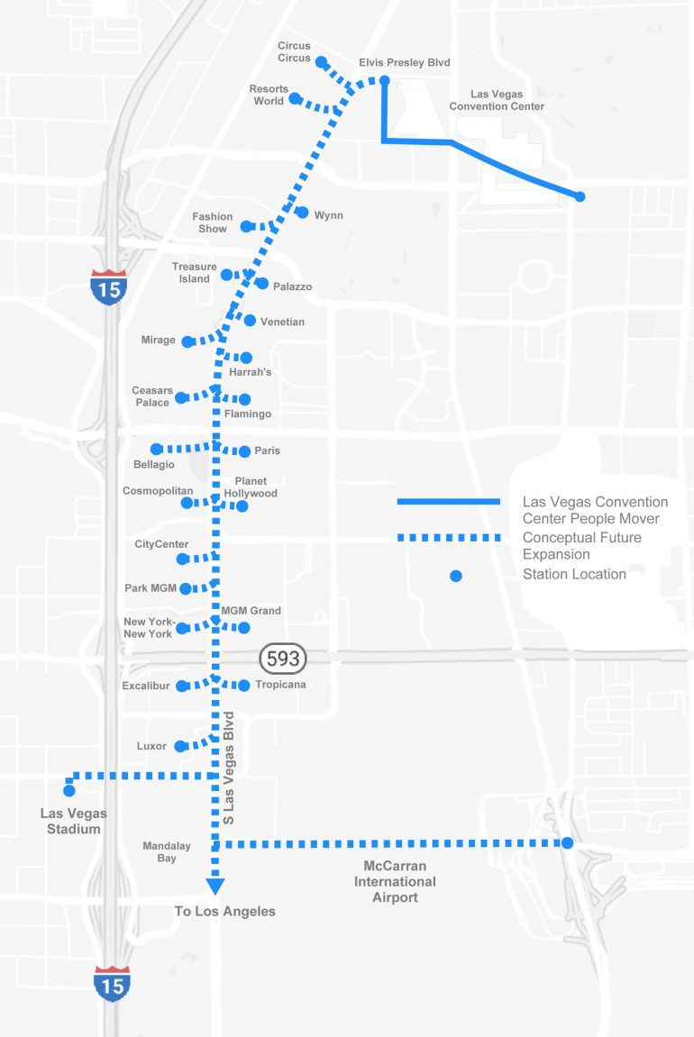 The Boring Company возьмётся за строительство тоннеля в центре Лас-Вегаса