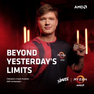 Украинский CS:GO-киберспортсмен Александр «s1mple» Костылев стал официальным амбассадором AMD