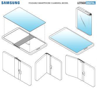 Опубликованы патентные изображения потенциального складного смартфона Samsung, похожего на Huawei Mate X