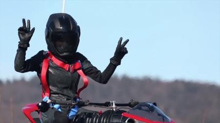 Ховербайк-трансформер La Moto Volante 496 впервые поднялся в воздух