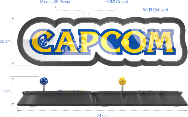 Capcom представила Home Arcade — аркадную ретро-консоль в виде логотипа компании