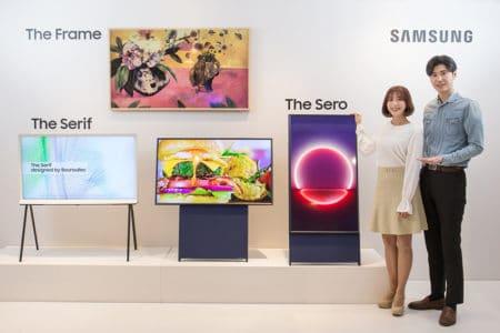 Специально для миллениалов: Samsung представила 43-дюймовый телевизор Sero для просмотра вертикальных видео со смартфонов и соцсетей