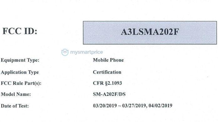 Бюджетный Samsung Galaxy A20e рискует стать самым компактным смартфоном новой линейки Galaxy A