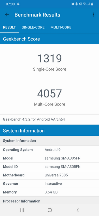 Обзор смартфона Samsung Galaxy A30