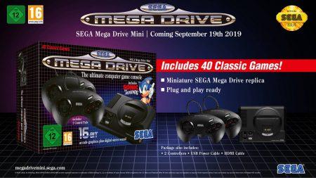 Ретро-консоль Sega Mega Drive Mini выйдет 19 сентября 2019 года с 40 предустановленными играми по цене порядка $80