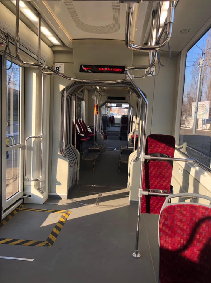 КГГА показала новые украинские трамваи «Татра-Юг», которые вскоре будут обслуживать маршруты Троещины