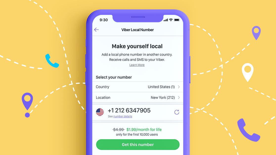 «Местный Номер Viber»: новый сервис общения по«домашним» тарифам