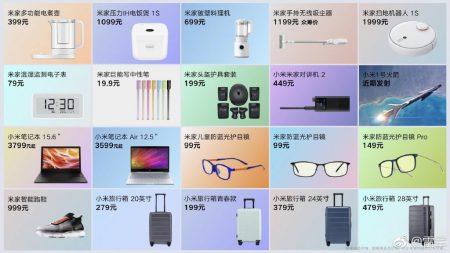 Xiaomi представила сразу 20 продуктов