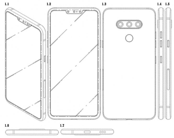 LG запатентовала уникальный смартфон с тройной фронтальной камерой (ФОТО)