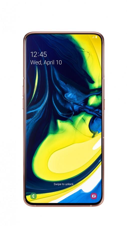 «Подбородок» и рамки необычного смартфона Samsung Galaxy A80 в реальности оказались толще, чем показала Samsung