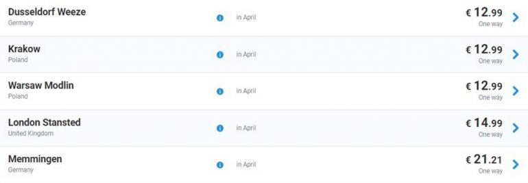 Ryanair запустил большую пасхальную распродажу: авиабилеты из иева и Ћьвова по более чем 20 направлени¤м от И9,9