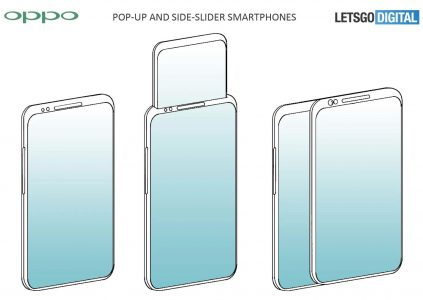 Oppo запатентовала дизайн смартфона с выдвижным дисплеем