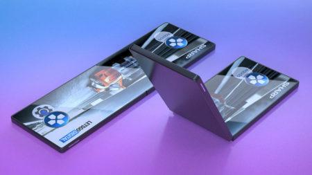 Sharp показала прототип складного 6,2-дюймового смартфона с большим прямоугольным вырезом [Видео]