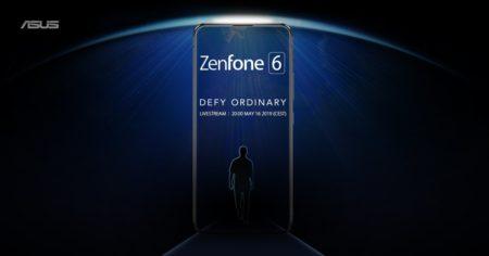 Рекламное изображение нового флагмана ASUS Zenfone 6демонстрирует безрамочный смартфон без вырезов и отверстий