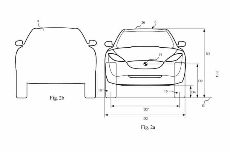 Dyson показал патентные изображения своего первого электромобиля. Это аэродинамичный семиместный кроссовер со сверхдлинной базой и огромными узкими колесами