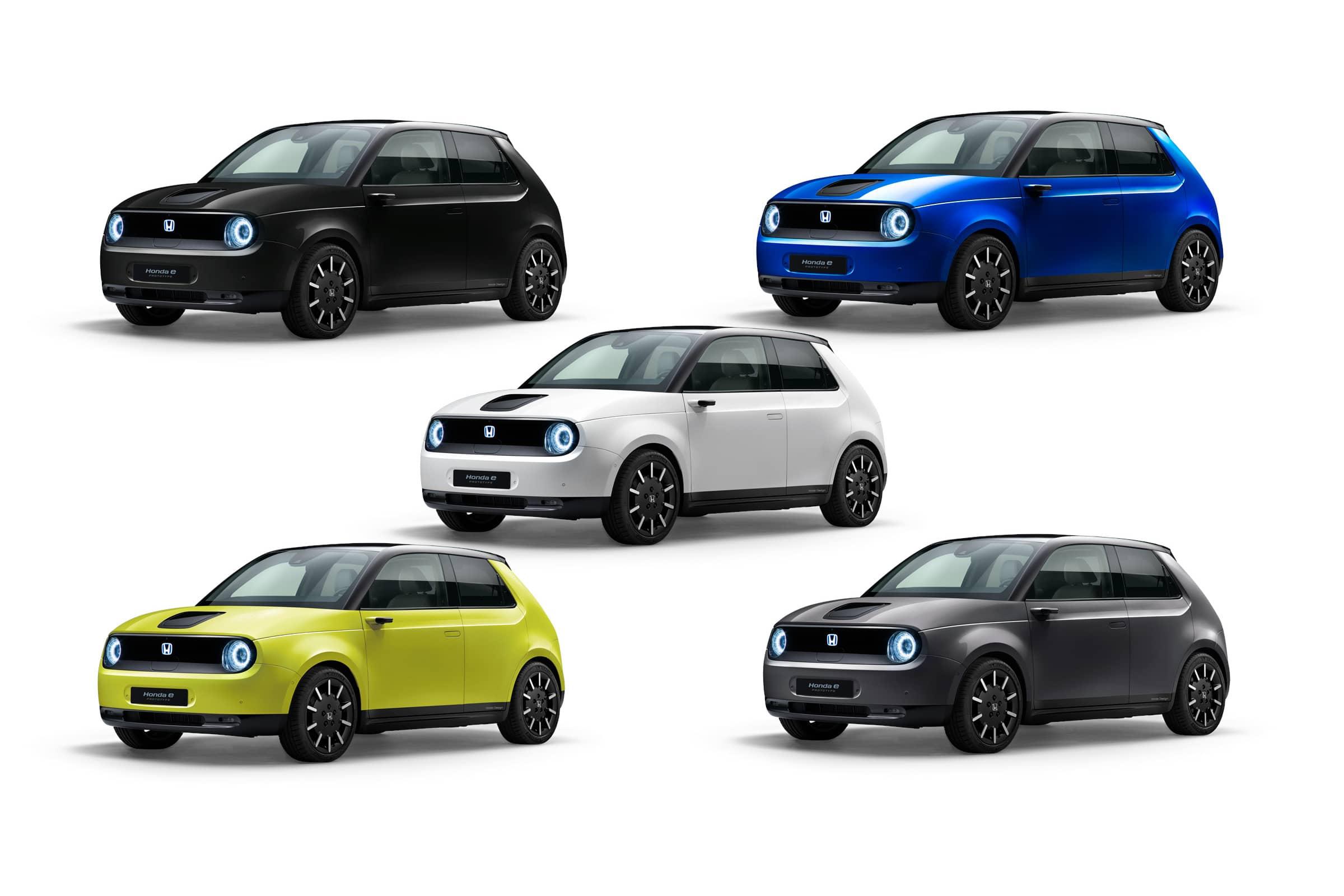 Honda открыла европейские предзаказы на электрохэтчбек Honda e и показала пять цветовых вариантов новинки