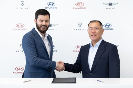 Hyundai and Kia have invested $ 90 million in the Croatian manufacturer of electric vehicles Rimac, the companies will jointly develop two electric vehicles by 2020