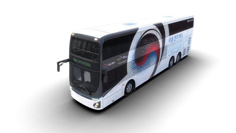 Хюндай представила двухэтажный электрический автобус