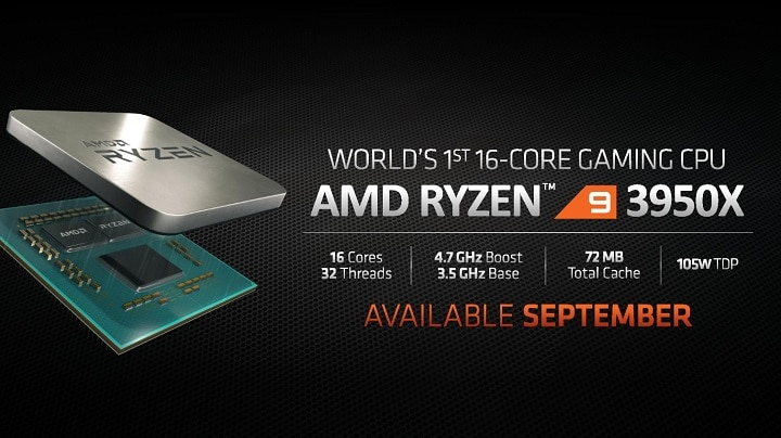 Процессор AMD Ryzen 9 3950X существенно опередил Intel Core i9-9980XE в тесте Geekbench
