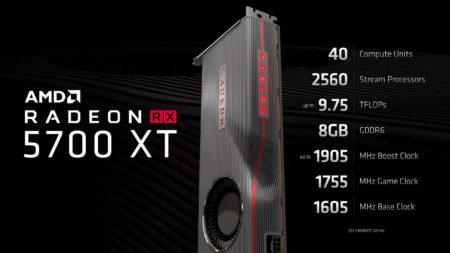 Представлены AMD Radeon RX 5700 и RX 5700 XT – первые видеокарты на базе новой архитектуры RDNA