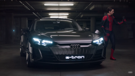 «Человек-паук» в исполнении Тома Холланда снялся в рекламе электромобиля Audi e-tron GT [видео]