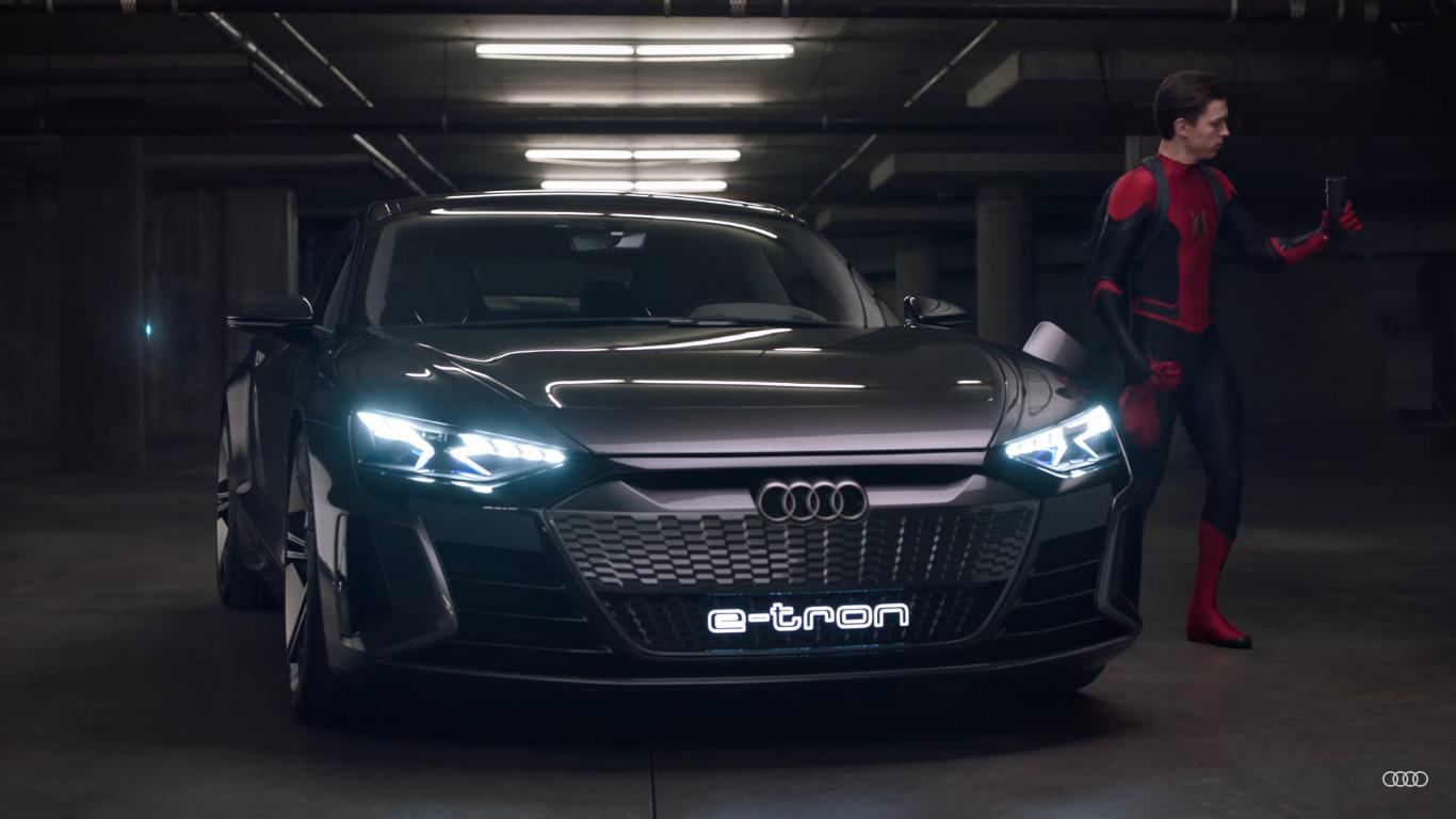 Электромобиль Audi e-tron GT засветился в рекламе с Человеком-пауком в главной роли [видео]