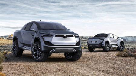 Как будет выглядеть электромобиль Tesla Pickup по мнению фанатов компании