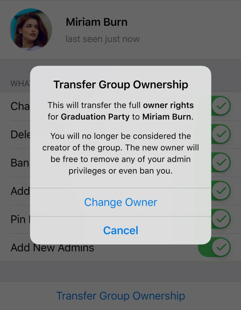 Telegram запустил геочаты для общения с пользователями поблизости и разрешил передавать права на каналы