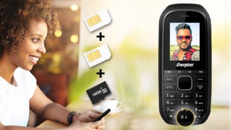 Мобильный телефон Energizer E12 всего за €12: две SIM-кары, две камеры, слот microSD и мультимедийные кнопки