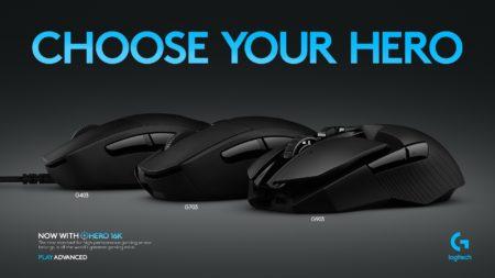 Logitech обновила линейку геймерских мышей тремя моделями с датчиком HERO 16K