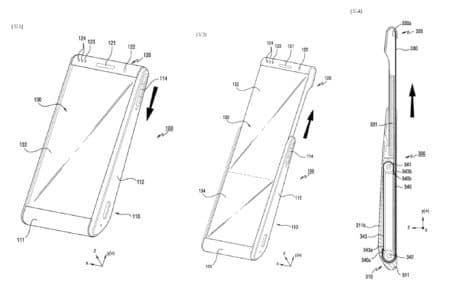 Samsung запатентовала смартфон со сворачивающимся дисплеем