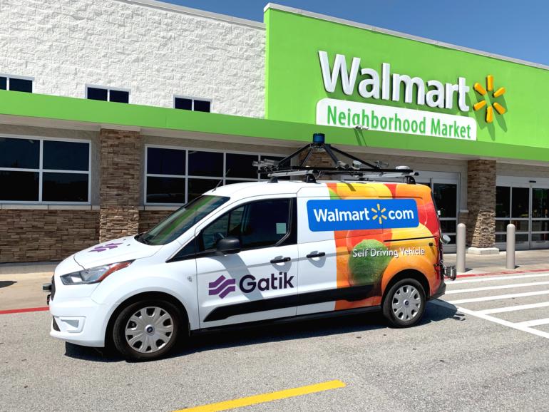 Walmart будет развозить онлайн-заказы по магазинам при помощи робомобилей Gatik