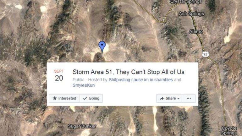 Пользователи Facebook массово вознамерились штурмовать «Зону 51»