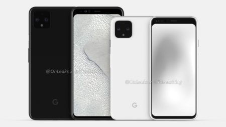 Утечка передних панелей для Google Pixel 4 подтверждает наличие большого отступа в верхней части смартфона