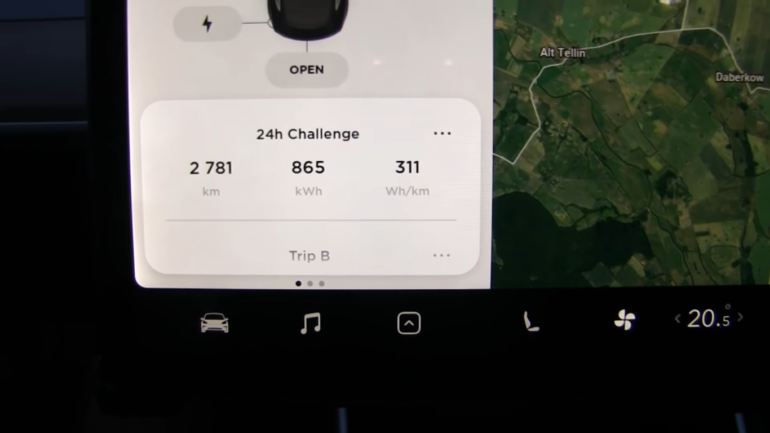 """Норвежец установил мировой рекорд """"суточной"""" дальности хода для электромобилей, проехав 2781 км за 24 часа на Tesla Model 3 [видео]"""