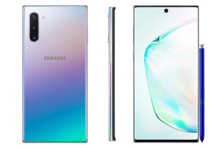 Флагманские смартфоны Samsung Galaxy Note10 и Note10+ показались на официальных рендерах