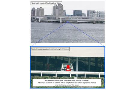 Камера наблюдения Fujifilm SX800 способна считывать номерной знак автомобиля на расстоянии 1 км